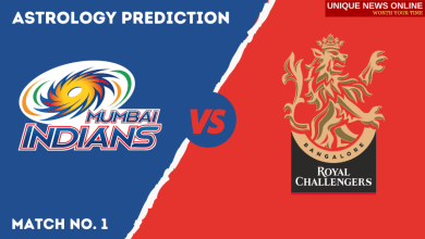 MI vs RCB Astrology Prediction, Top Picks, Dream11 Tips, Captain & Vice-Captain, and who will win Mumbai Indians or Royal Challengers Bangalore