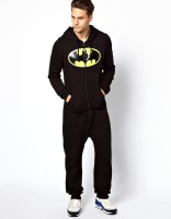 Image 4 of ASOS Onesie With Batman Print