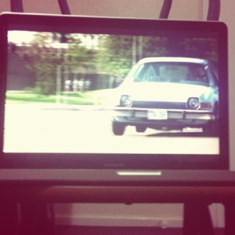 A car on TV