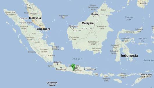 Carte Borobudur Indonésie