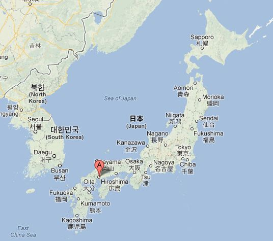 Carte Hiroshima