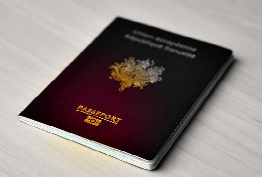 couverture passeport français