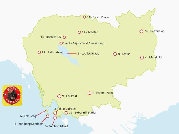 carte cambodge détaillée à imprimer