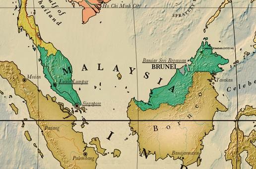 carte malaisie à imprimer détaillée
