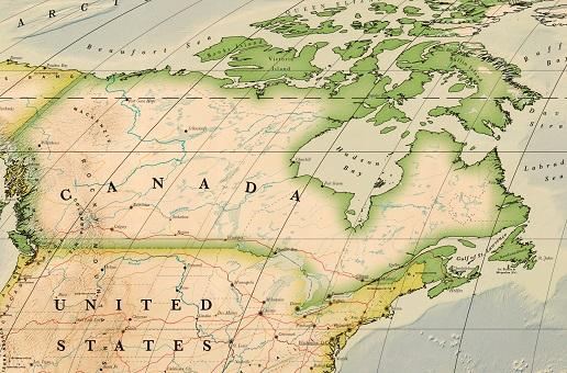 carte canada détaillée
