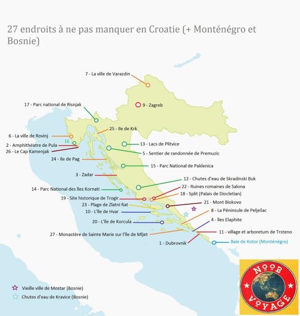 Carte Croatie Telecharger.Carte De La Croatie Detaillee Touristique Noobvoyage Fr