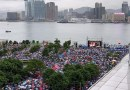 「阿B」鍾鎮濤現身 民眾冒雨參加「反暴力、救香港」集會  大會稱有47.6萬人出席