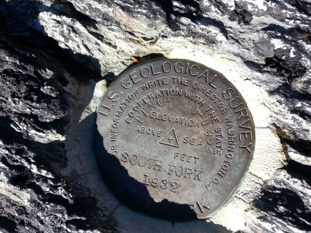 South Fork bench mark.