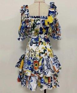 Produktfoto Sommerkleid 2-teilig von hinten auf Mannequin