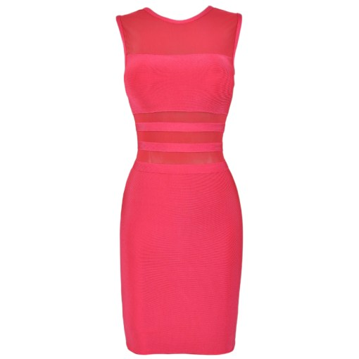 Bandage Bodycon Kleid pink