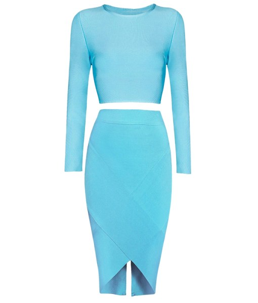 Bandage Bodycon Set hellblau