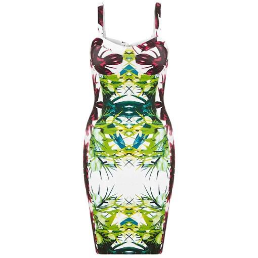 Bandage Bodycon Kleid tropisch