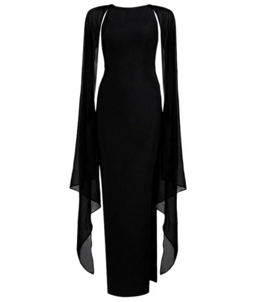 Bandage Bodycon Kleid Maxi schwarz