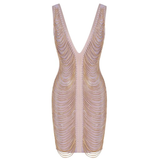 Bandage Bodycon Kleid gold
