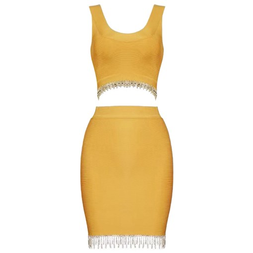 Bandage Bodycon Set tangerine