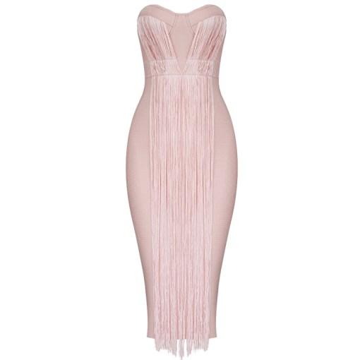 Bandage Bodycon Kleid rosa
