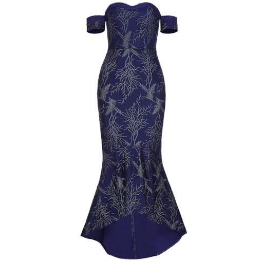 Bandage Bodycon Abendkleid blau