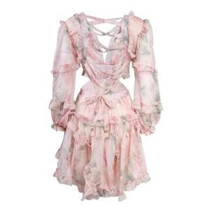 Produktbild Kleid mit Rüschen- von hinten