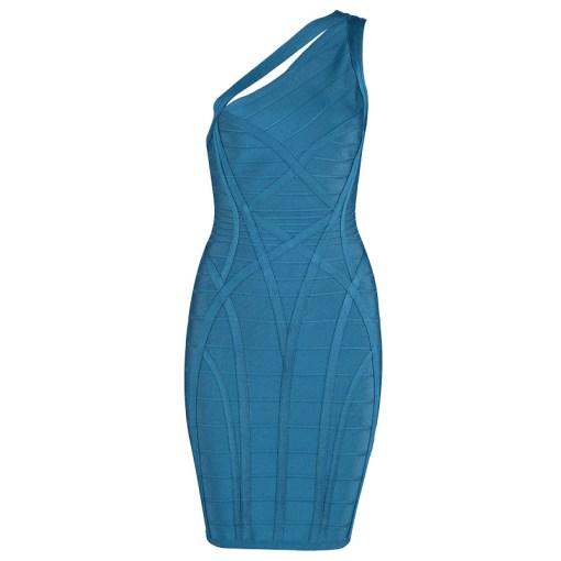 Bandage Bodycon Kleid blaugrün