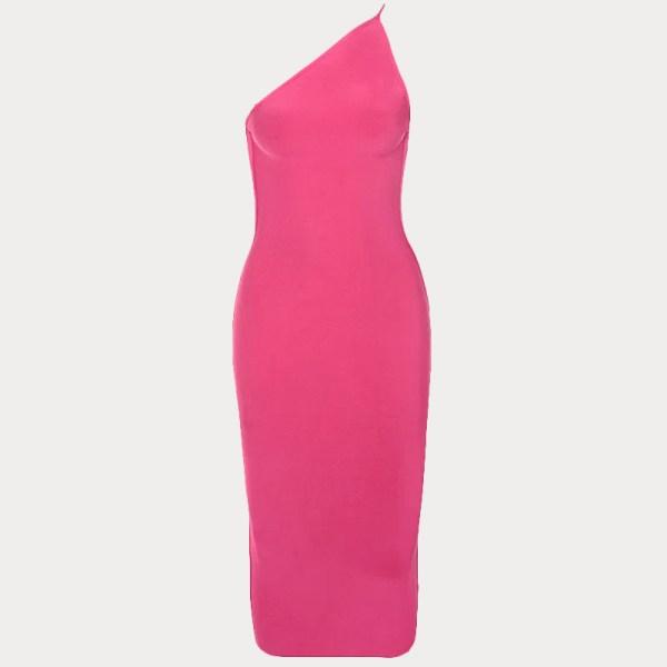 Produktbild One-Shoulder-Kleid pink