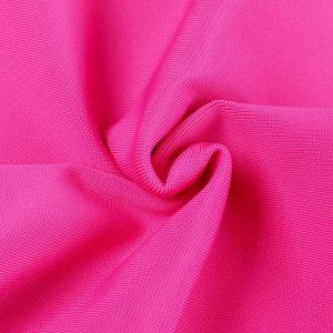 Materialaufnahme One-Shoulder-Kleid pink