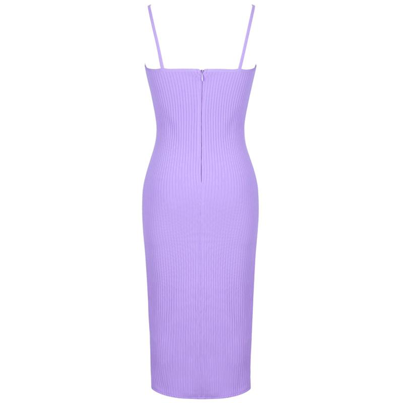 Produktbild Trägerkleid lila von hinten
