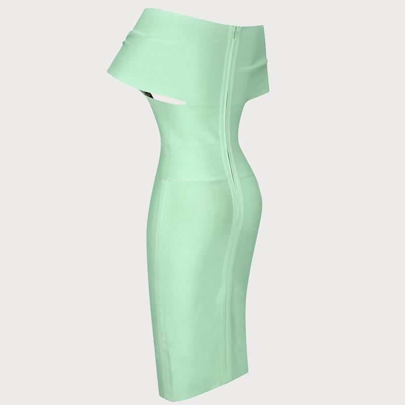Produktbild Off-Shoulder Kleid mint sitlich