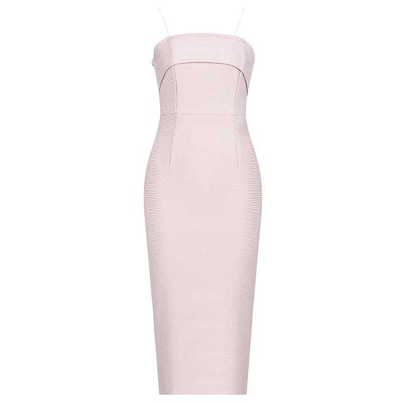 Produktfoto Cocktailkleid puder rosa von vorne