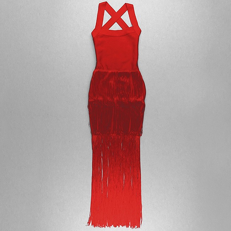 Produktfoto langes rotes Kleid