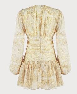 Produktbild Sommerkleid gelb von hinten