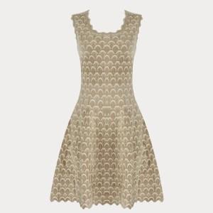 Produktfoto Kleid Wellensaum beige