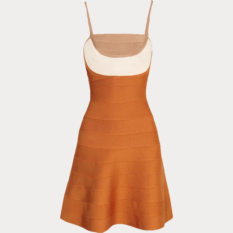 Produktbild Trägerkleid orange