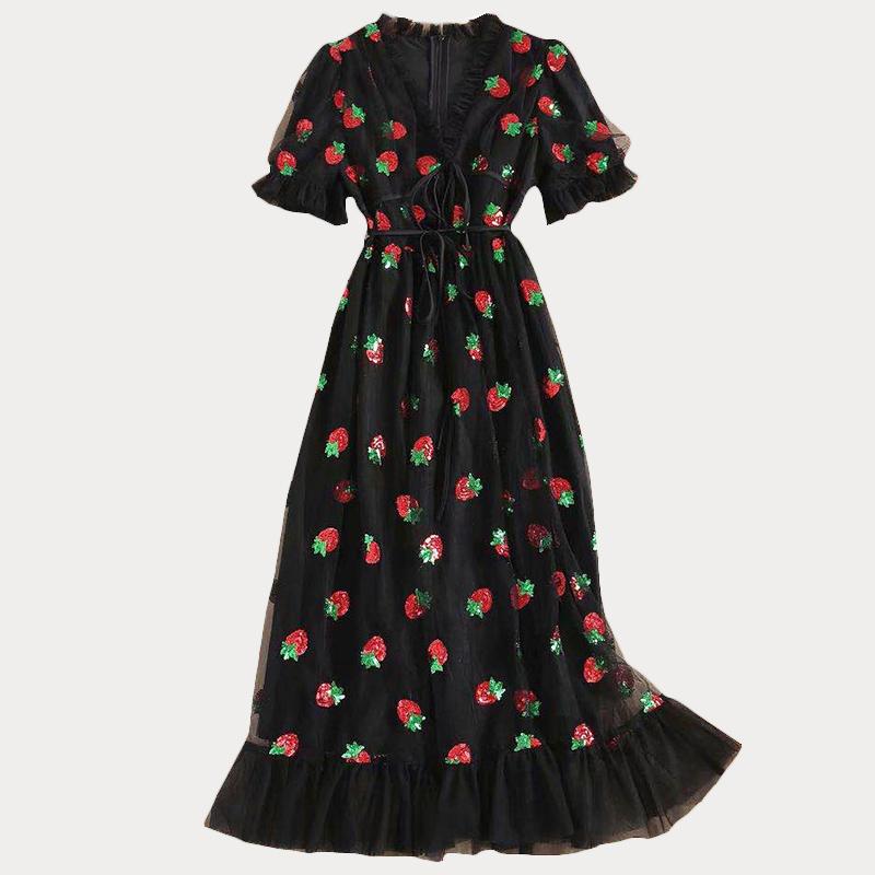Produktbild Erdbeerkleid schwarz