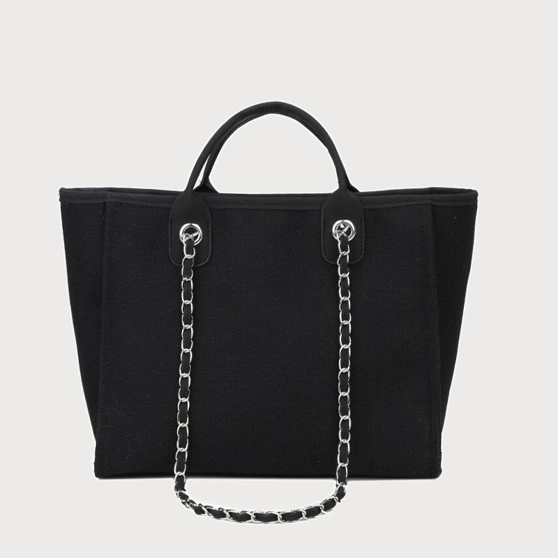 Produktfoto von vorne Tasche Canvas schwarz