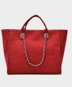 Produktfoto von vorne Tasche Canvas rot