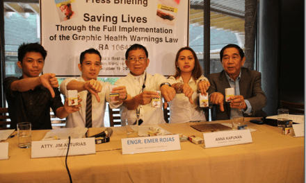 Pagpapatupad ng Graphic Health Warnings law sa November 4, na