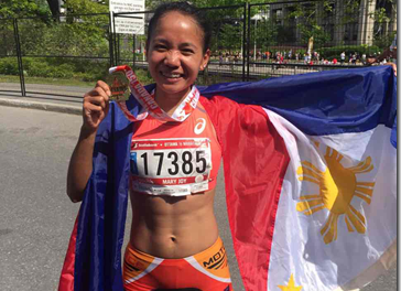 MILO Marathon Queen Mary Joy Tabal victorious in women's half marathon of Ottawa Race