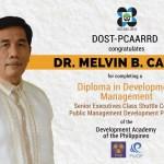 Congratulations Dr. Melvin B. Carlos of DOST-PCCAARD