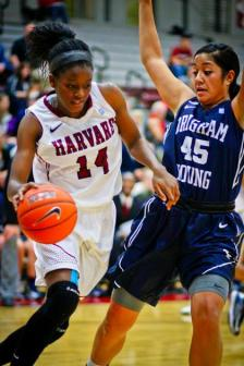 Temi Fagbenle registered a double-double with 14 points and 12 rebounds against Columbia! (Photo Credit: The Harvard Crimson)