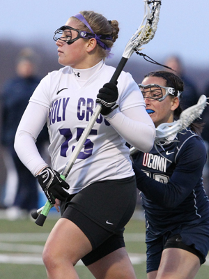 Taylor Zebrowski recorded a game-best five tallies that helped the Crusaders get past Lafayette! (Photo Credit: Holy Cross Athletics)