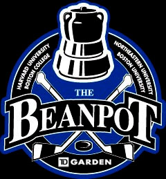 The 62nd Boston Beapot begins this afternoon with Harvard vs. Northeastern followed by Boston College vs. Boston University. (Photo Credit: BeanpotHockey.com)