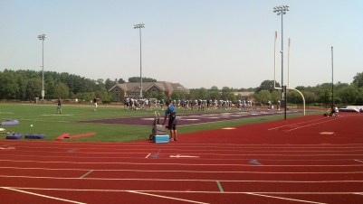 Stonehill College football prepares for its upcoming 2015 season. (Photo Credit: Brian Willwerth)