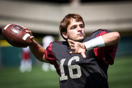 Boston College's Troy Flutie registered one touchdown pass in his team's 76-0 win over Howard last Saturday. (Photo Credit: BCEagles.com)