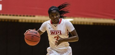 WPI's Ama Biney was tabbed this week's WACBA Women's Player of the Week. (Photo Credit: WPI Athletics)
