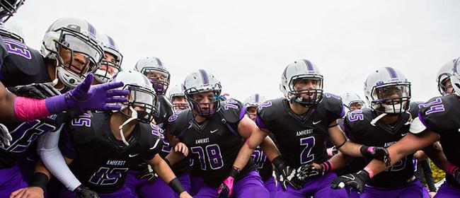 Amherst College's football team is focused on having a great day every day. (Photo Credit: Amherst College)