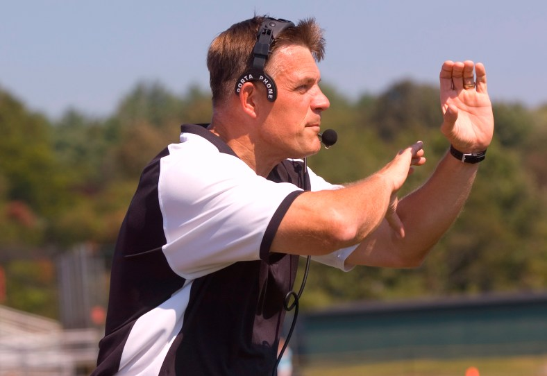 Bridgewater State Interim Head Coach Joe Verria has guided the Bears to six-straight wins, dating back to a week three victory over Worcester State. (PHOTO CREDIT: Bridgewater State University Office of Sports Information)