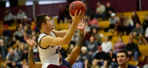 Springfield College men's basketball scored an exciting win on Wednesday, knocking off the top-ranked team in the nation (and our poll!), Amherst College. (PHOTO CREDIT: Springfield College Athletics)