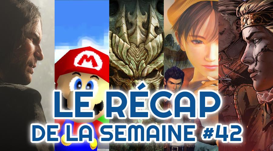 Le récap de la semaine #42 : Red Dead Redemption II, Nintendo 64 Mini, Switch Diablo, Shenmue Remake, Thronebreaker : The Witcher Tales + CONCOURS