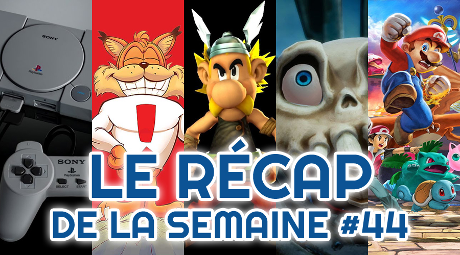 Le récap de la semaine #44 : Playstation Classic, Bubsy Paws On Fire, Astérix & Obélix XXL 2, Medievil, Super Smash Bros Ultimate