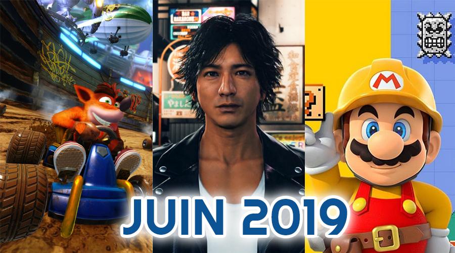 Le calendrier des sorties : Juin 2019